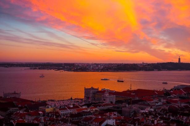 Sunset over Lisbon