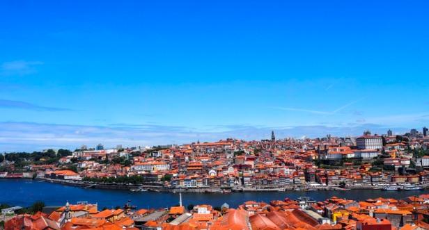 Panoramic view over Porto