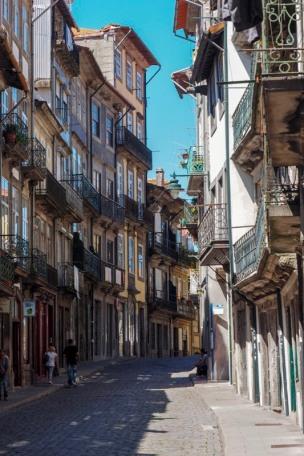 Porto colourful historic facades