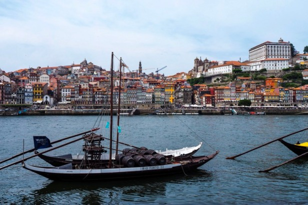 Porto Ribeira district with histroic rabelo boat