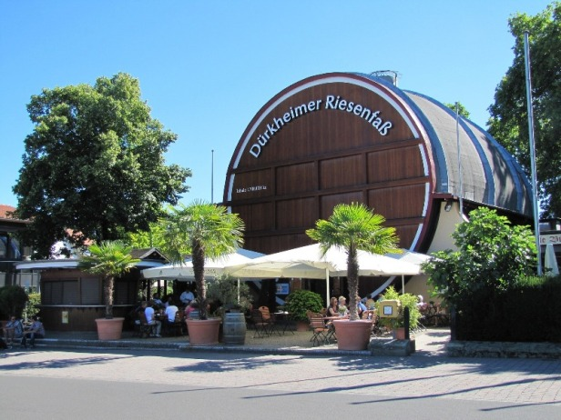 a view of the Riesenfaß in Bad Dürkheim, the worlds largest wine barrel