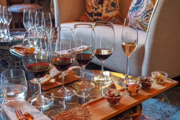 wine tasting at Boschendal winery in the Western Cape Winelands