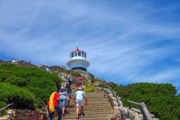 the lighthouse at Cape Point National Park in South Africa