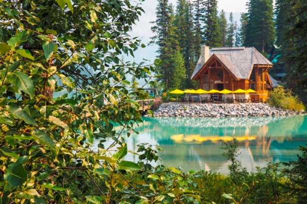 a view at the cabin at Emerald Lake