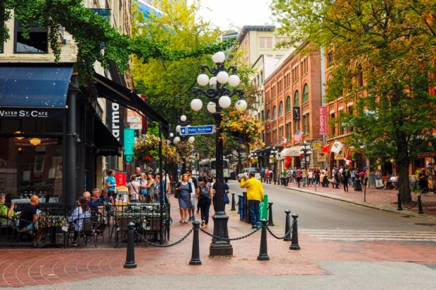 street view in Gastown Vancouver