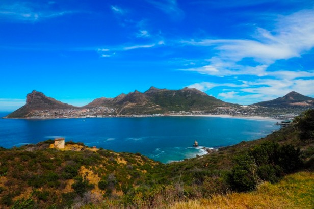 a panoramic view at Hout Bay in South Africa