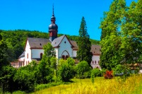 a view of Eberbach Abbey in Germany
