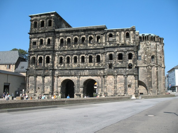 a view of Porta Nigra in Trier