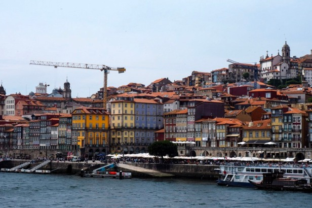 Porto Ribeira district riverfront view