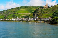 an historic town and castle in the German Rhine valley