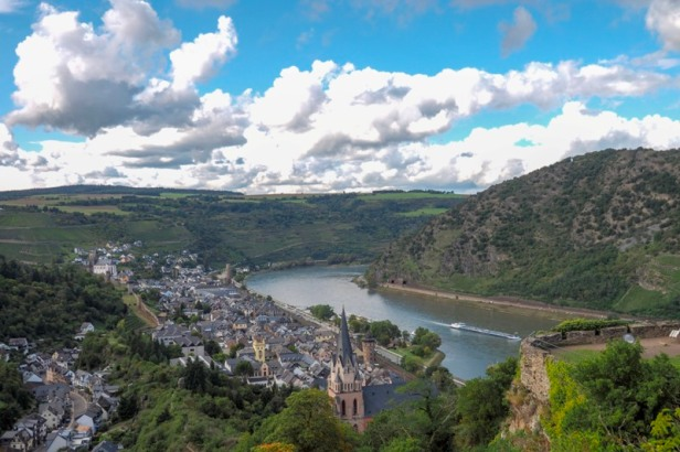 a view over the river Rhine in the German Rhine Valley