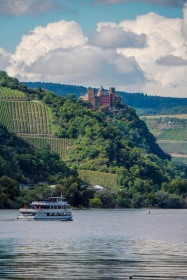 a view of Castle Schönburg in the Rhine Valley in Germany