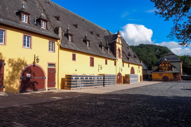 a view of the Schloss Vollrads courtyard in Rheingau