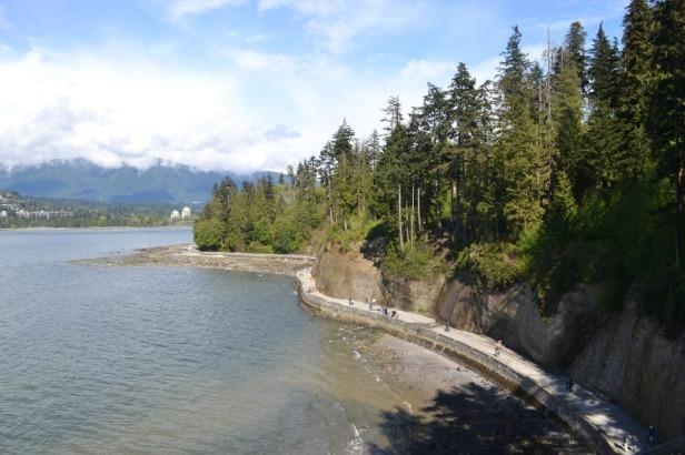 Vancouver Stanley Park seawall promenade