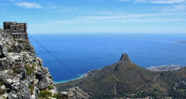 a view from the peak of Table Mountain