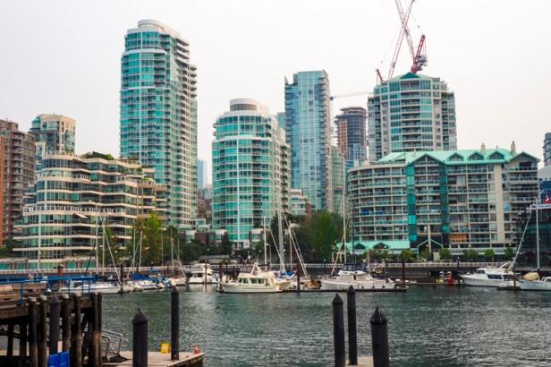 Vancouver Granville harbour view
