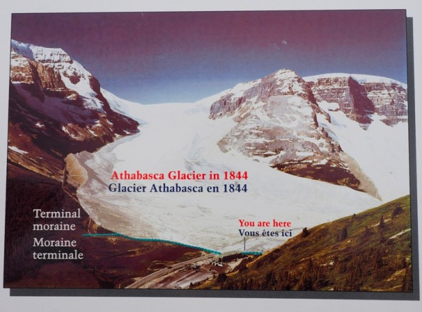 a picture of Athabasca Glacier back in 1844