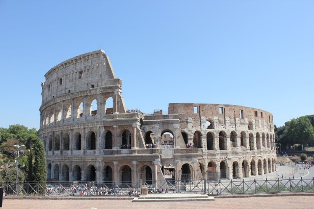 a view at Colosseum in Rome