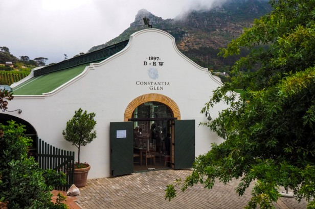 a view at Constantia Glen Winery in Constantia Valley in Cape Town, South Africa