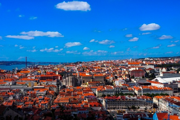 a view over the rooftops of Lisbon