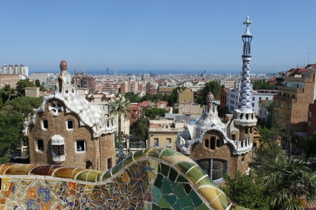 a view over Barcelona from Park Guell