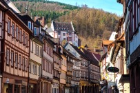 old half-timered houses in Miltenberg Odenwald