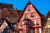 Miltenberg old facades Schnatterloch Odenwald