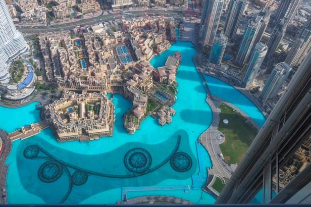 Burj Khalifa view over Dubai