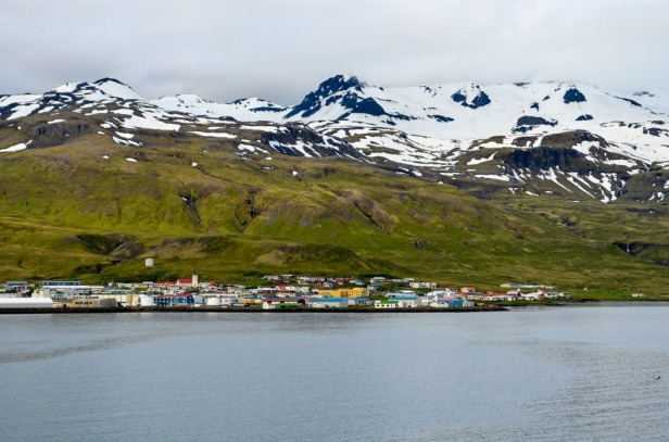 a view at the town of Spitsbergen in Norway