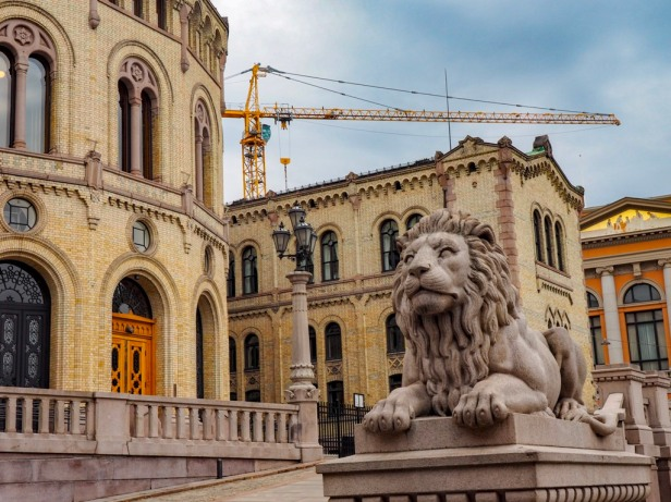 Parliament and the Norwegian Lion, Oslo