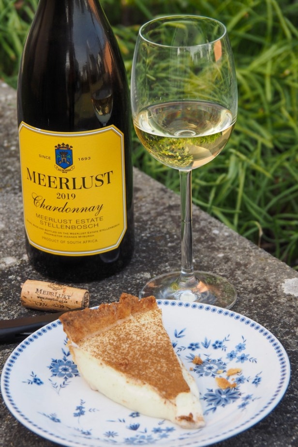 Tasting South Africa's culinary history with Milk Tart and a bottle of Meerlust Chardonnay