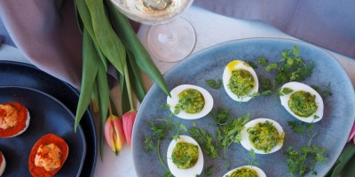 Devilled eggs that will rock your St. Patricks Day and Easter brunch buffets