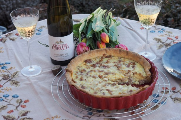 A food and wine pairing steeped in history: Kloster Eberbach Riesling Crescentia' Steinberger and Quiche Lorraine