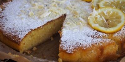 Torta Caprese Bianca al Limone | A terrific Spring-like twist to the classic flourless Italian chocolate cake