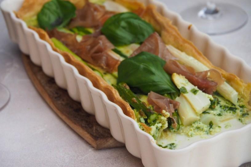 Easy Green and White Asparagus Tart