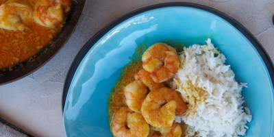 A quick and easy Yellow Coconut Shrimp Curry | Van Volxem Riesling