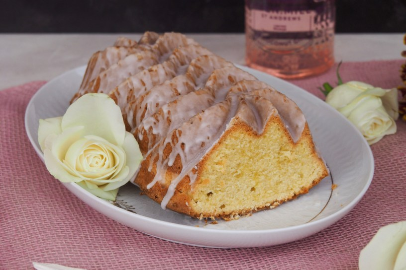 Lime-Coconut Bundt Cake with Coconut-Gin Glaze