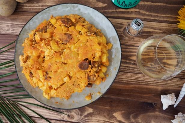 A quintessential Spanish pairing: Casa Mariol Cava meets potato-chorizo tortilla