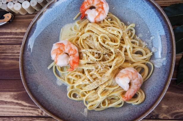 Pasta al Limone – Linguine with a tangy Lemon-Cream Sauce