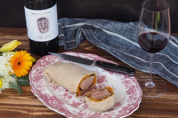 Pork Tenderloin in pumpkin-bread crust   Pinot Noir
