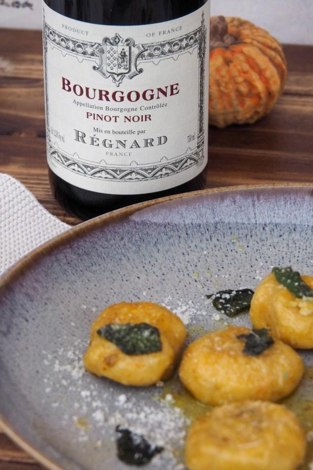 Pumpkin Gnocchi with sage butter | Bourgogne Pinot Noir