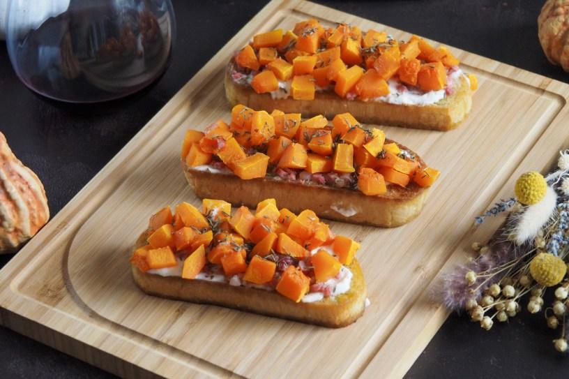 Perfect fall appetizer recipe: Pumpkin Bruschetta